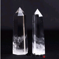 天然白水晶柱白晶柱 天然水晶柱摆件原石柱 水晶冰柱激发潜能