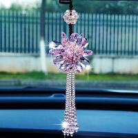 车载女士挂饰车上后视镜水晶吊饰吊坠韩国汽车挂件车内饰品摆件