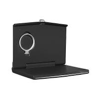 车载平板电脑桌汽车后座笔记本支架车用后排餐桌可折叠办公小桌板 高配版橡胶漆【电脑桌】-黑色