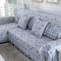 沙发垫布艺纯棉四季通用简约现代防滑坐垫欧式全盖沙发套巾罩定做