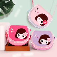 小虫家韩版小女孩公主斜挎包 女童小包包时尚卡通可爱 蕾丝包包