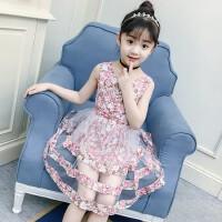 夏装新款连衣裙夏季中大童儿童韩版蓬蓬裙子