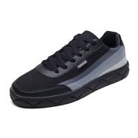 男士帆布鞋韩版布鞋运动休闲潮流平板鞋冬季黑色百搭男鞋子