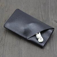 苹果手机套iphone8皮套手机袋plus直插套内胆包保护套6splus 4.7寸加大立体款 荔枝皮黑色