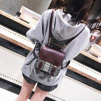 2018新款女包百搭撞色双肩包女韩版潮休闲迷你背包三用旅行小包包