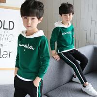 童装男童秋装套装中大童儿童春秋季卫衣运动两件套潮