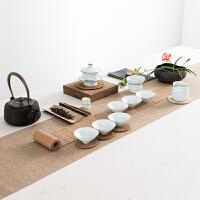 景德镇青瓷功夫茶具套装陶瓷茶壶茶杯盖碗套装家用礼盒装