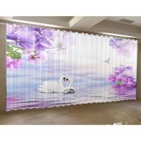 中式窗帘成品定制印花遮光保暖防风落地窗客厅卧室免打孔简约现代