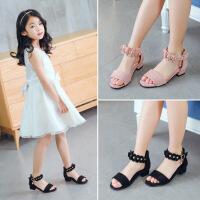 童鞋2018新款女童鞋夏季公主鞋韩版高跟儿童凉鞋女童凉鞋