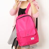 简约纯色大容量书包男双肩包女韩版学院BW高中生双肩旅行背包