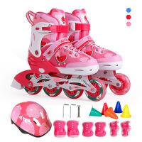 2-3-5-6-10岁溜冰鞋儿童全套装小孩可调旱冰宝宝闪光轮滑初学男女