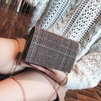 包包女冬季新款潮韩版时尚毛呢单肩包百搭链条斜挎包小包