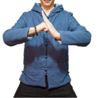 №【2019新款】冬天穿的中国风加厚棉衣中式盘扣唐装男连帽外套国潮复古棉麻上衣棉袄