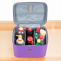 艳美容工具包化妆师紫色化妆箱化妆包美容箱杭州金钻工作室 14寸 玛丽艳
