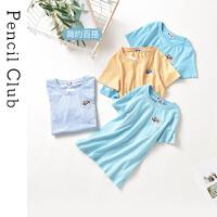 【2件3折:35.7】铅笔俱乐童装2020夏装新款男童女童短袖T恤亲子装一家三口家庭装