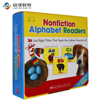 英文原版  Nonfiction Alphabet Readers Parent Pack 26册盒装附CD  4-8岁
