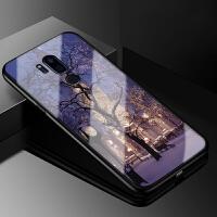 lg g7手机壳卡通g7thinq保护套G710玻璃防摔软硅胶全包个性男女潮 LG G7-芝加哥之夜