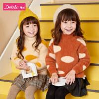 【3件1.5折价:39】笛莎童装女童冬季新款女孩女宝宝长袖洋气可爱套头针织衫毛衣