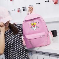 韩国粉红豹书包可爱双肩包女生中学生背包校园韩版时尚