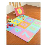 儿童爬行垫宝宝数字字母泡沫拼接地垫婴儿拼图地板爬爬垫抖音 (单片30*30*1.0cm)送边条