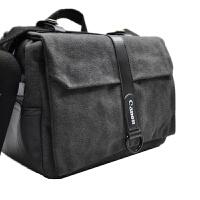 佳能单反包 相机包 80D 70D 77D 800D 5D4 5D3单反包帆布包防水包 佳能灰黑色