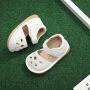 春夏款女宝宝鞋子叫叫鞋1一2岁婴儿防滑0-1小童学步鞋女童公主包头凉鞋