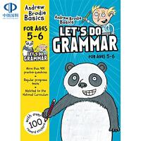 英文原版英国小学英语语法练习册 Lets Do Grammar 教材辅导书 5-6岁儿童英语语法练习册 全彩印刷 含测试