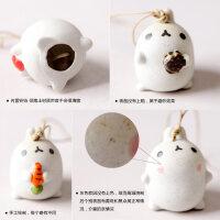 【支持礼品卡】陶瓷风铃 摆件有爱礼物独特家居挂件家居可爱小耳朵卡通兔子头kz3