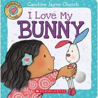 英文原版绘本 触摸纸板翻翻书 我爱小兔子 Lovemeez: I Love My Bunny by Caroline J