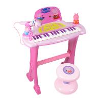 小猪佩奇电子琴玩具初学小钢琴麦克风儿童礼物