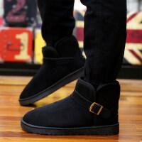 情侣冬季面包鞋户外懒人一脚蹬雪地靴男士加绒保暖休闲鞋防滑老人