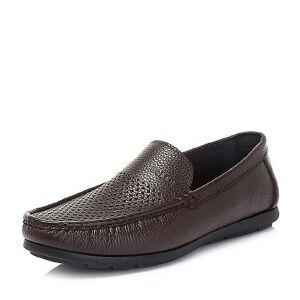 Belle/百丽2018夏季专柜新款荔纹牛皮革男乐福鞋皮鞋34604BM8