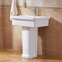 陶瓷洗衣池带搓衣板单池阳台室外大号洗衣槽家用落地式立柱洗手盆