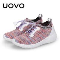 UOVO男童鞋子2018新款儿童鞋子女运动鞋透气网面中大童休闲鞋春秋 日喀则2