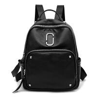 防水双肩包女韩版背包女包旅行包书包牛津布帆布妈咪包包s6 黑色