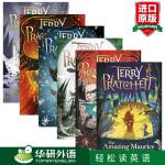 碟形世界6本套装 英文原版 Discworld 魔法奇幻世界 媲美哈利波特和魔戒 卡内基儿童文学奖 外国科幻小说书 英