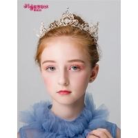 女童头箍发卡小孩生日饰品儿童发饰皇冠头饰公主王冠发箍发夹