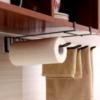 【满减】ORZ 棕色下挂四格厨房纸巾架 免钉无痕简易橱柜毛巾收纳架保鲜纸擦手巾适用