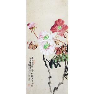 李源海(台湾画家)《牡丹》       a204