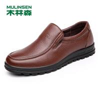 木林森男士商务休闲皮鞋皮质男鞋