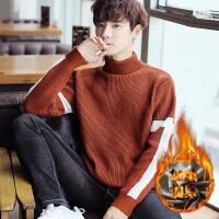 №【2019新款】小伙子穿的2018新款高领毛衣男士韩版宽松潮流青少年学生打底衫 加绒款
