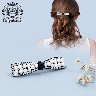 皇家莎莎发夹发卡子头饰品水钻横夹顶夹一字夹刘海夹马尾弹簧夹