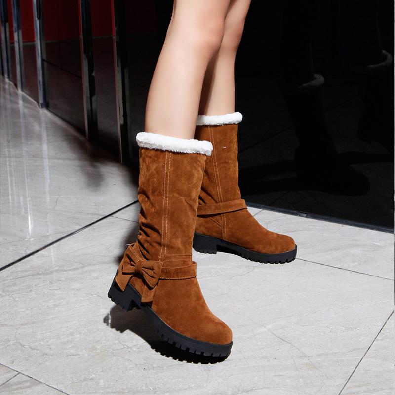 №【2019新款】冬天小朋友穿的儿童高跟雪地靴女童靴秋短靴中大童棉靴加绒公主靴