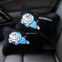 可爱汽车毛绒头枕腰靠抱枕被子卡通车内安全带护肩档把套方向盘套