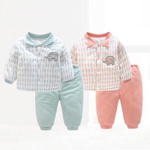 【专区129元选4后到手价:33元】歌歌宝贝宝宝棉衣套装加厚婴儿棉服冬季幼儿套头保暖两件套