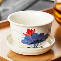 手绘透明花茶杯耐热泡茶杯玻璃茶杯陶瓷过滤内胆水杯