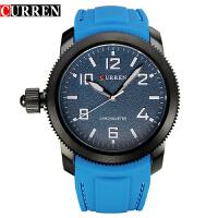 CURREN 卡瑞恩8173 男士硅胶带石英防水手表 休闲时尚男士腕表
