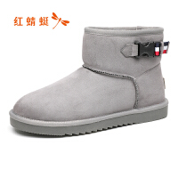红蜻蜓雪地靴男冬季鞋防水防滑棉靴子高帮加绒保暖棉鞋