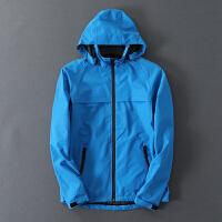 户外防风压胶防水防外线速干男式冲锋衣运动夹克薄款外套