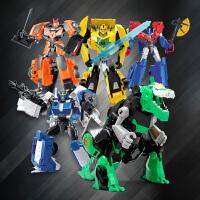 大黄蜂恐龙钢索汽车机器人男孩礼物 变形玩具金刚5合金版